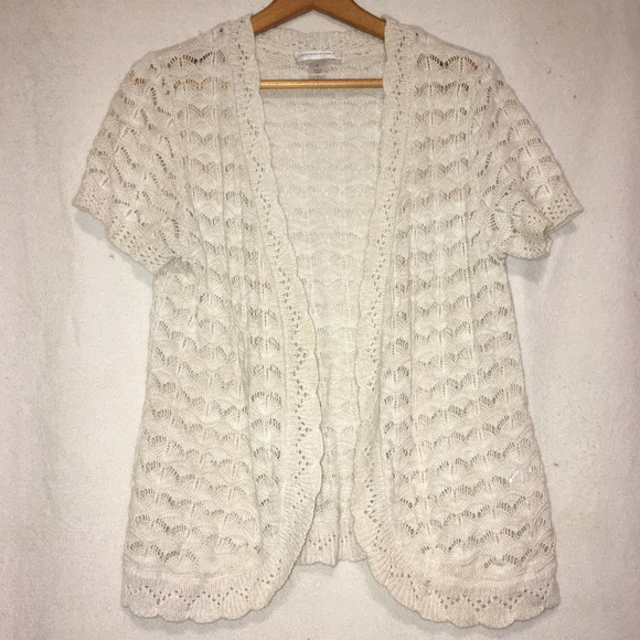 Christopher & Banks Sweaters - Christopher & Banks Open Weave Cardigan
